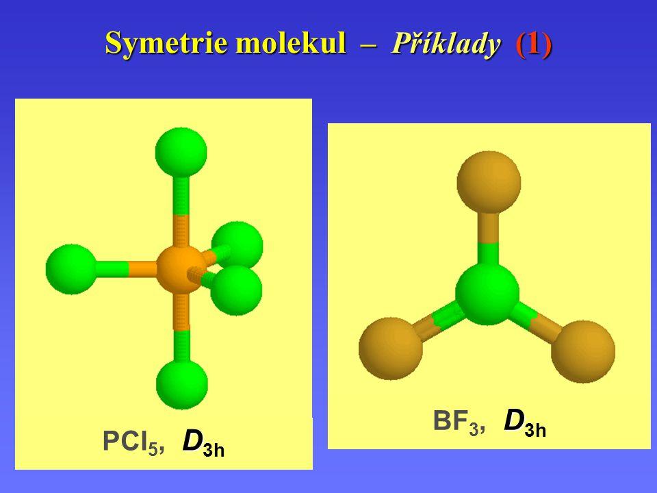 Symetrie molekul – Příklady (1)