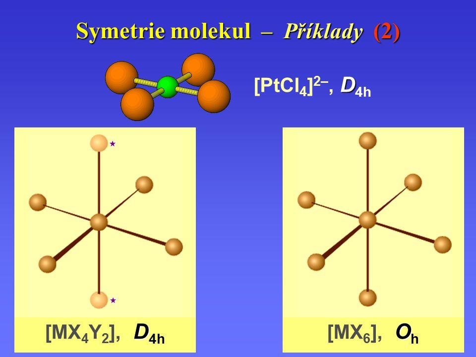Symetrie molekul – Příklady (2)