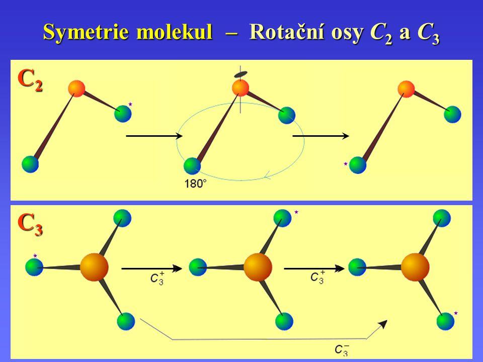 Symetrie molekul – Rotační osy C2 a C3