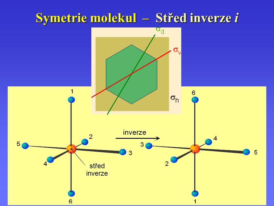 Symetrie molekul – Střed inverze i