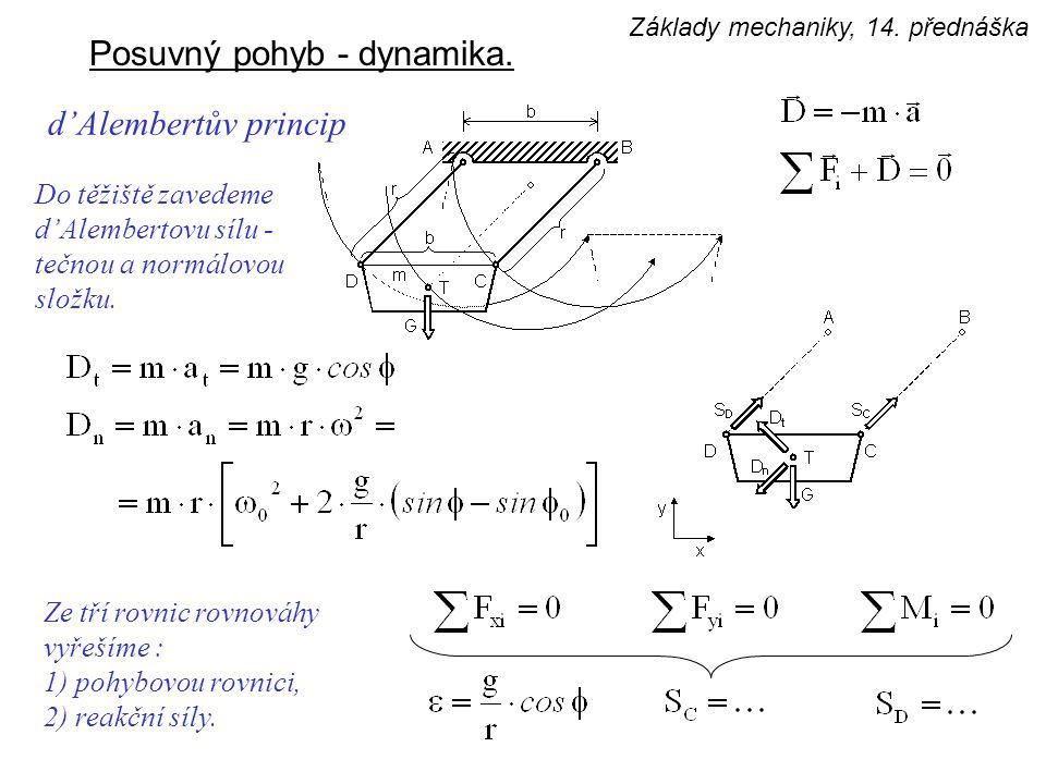 Posuvný pohyb - dynamika.