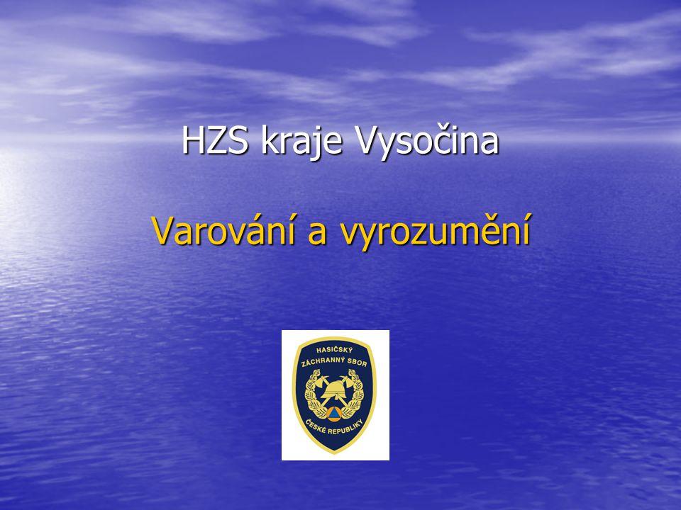 HZS kraje Vysočina Varování a vyrozumění
