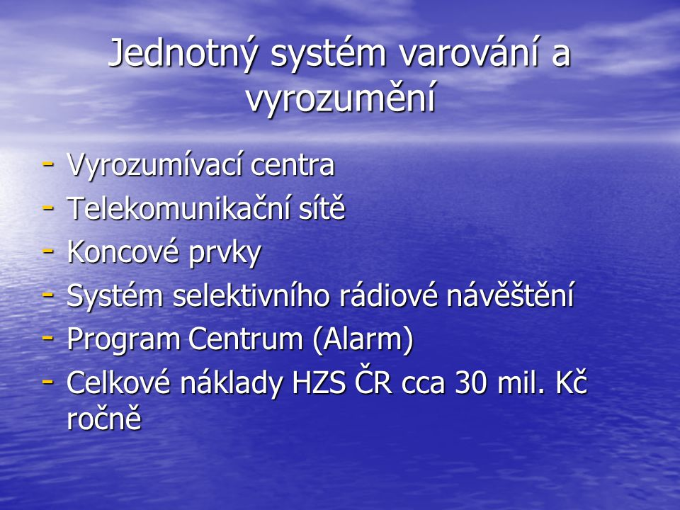 Jednotný systém varování a vyrozumění