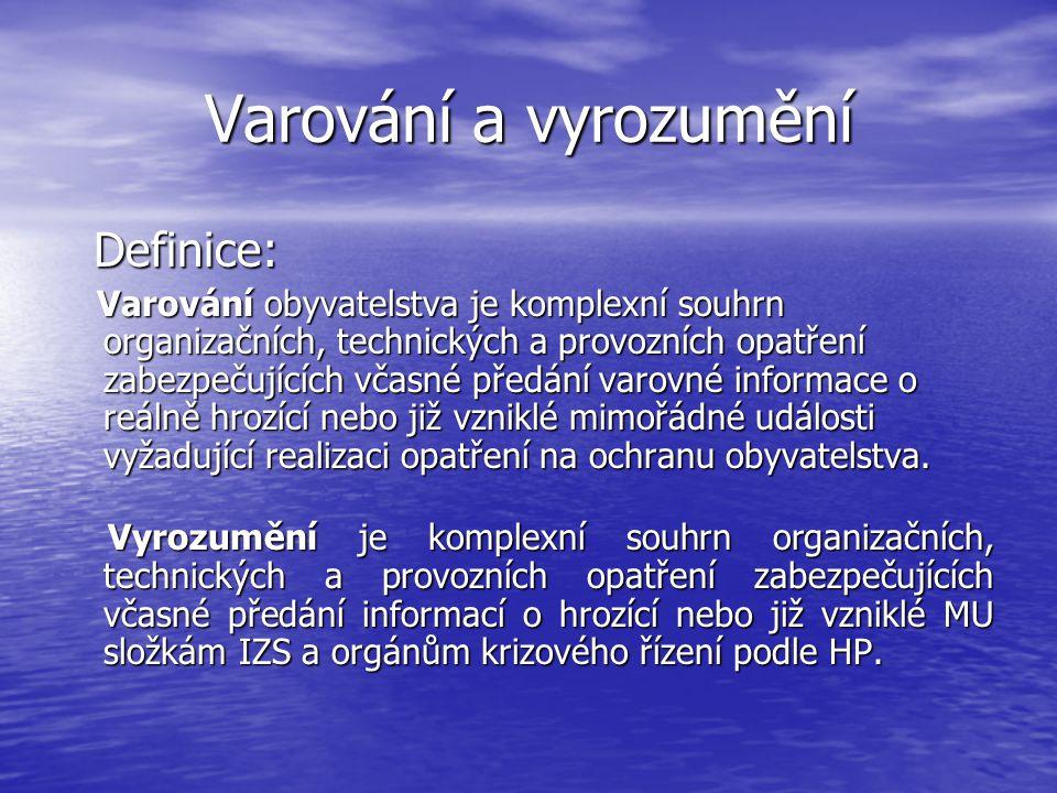 Varování a vyrozumění Definice: