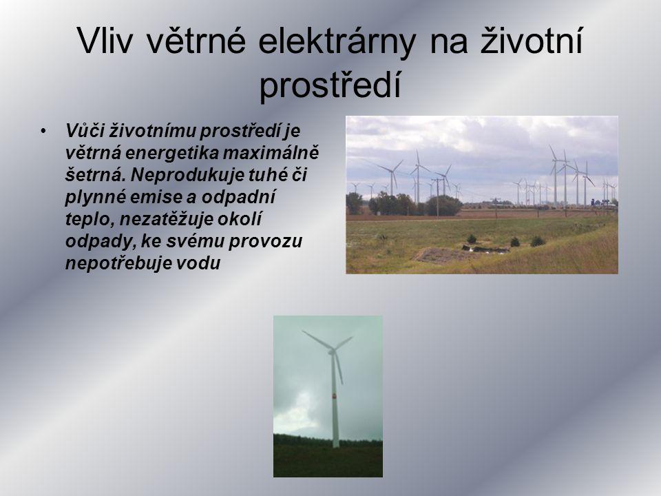 Vliv větrné elektrárny na životní prostředí