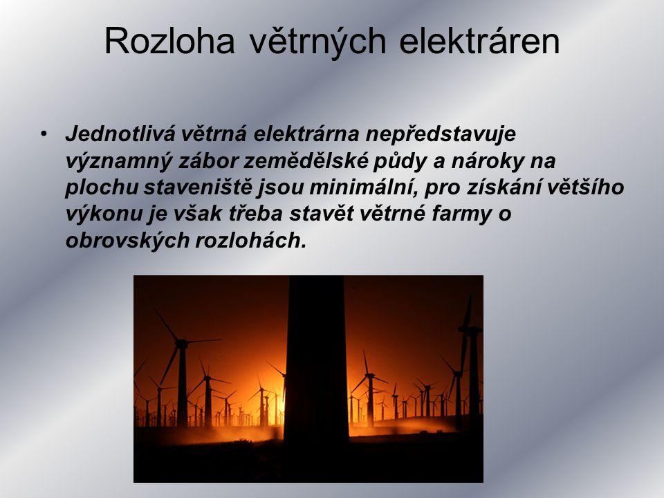 Rozloha větrných elektráren