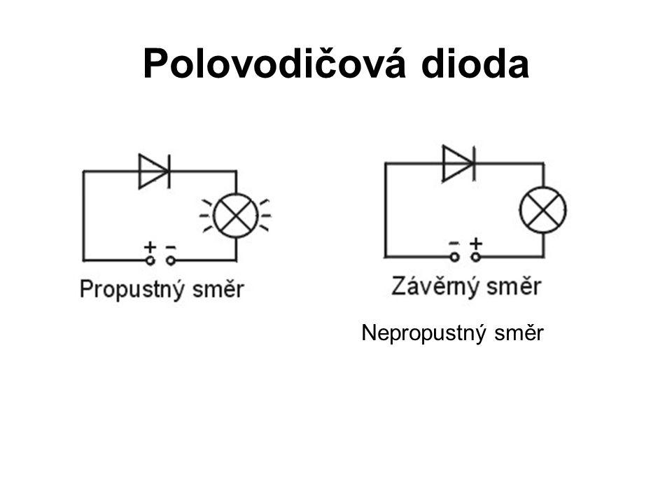 Polovodičová dioda Nepropustný směr