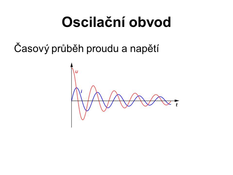 Oscilační obvod Časový průběh proudu a napětí