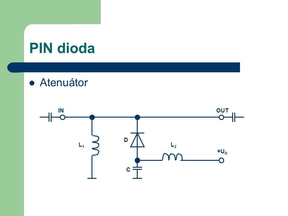 PIN dioda Atenuátor IN OUT D L1 L2 +UB C