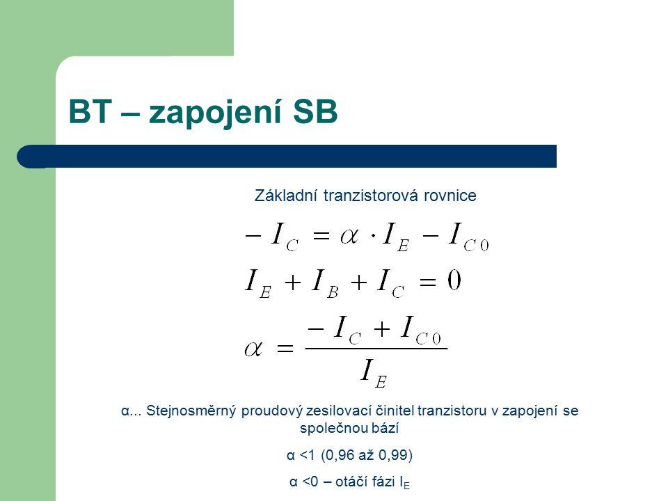 Základní tranzistorová rovnice