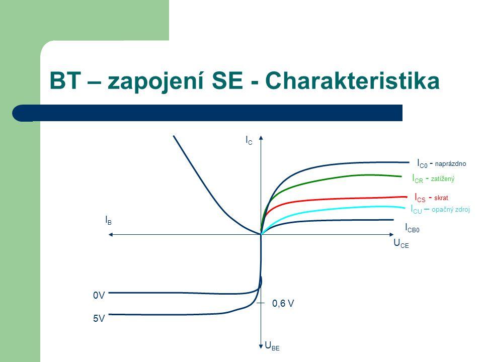 BT – zapojení SE - Charakteristika