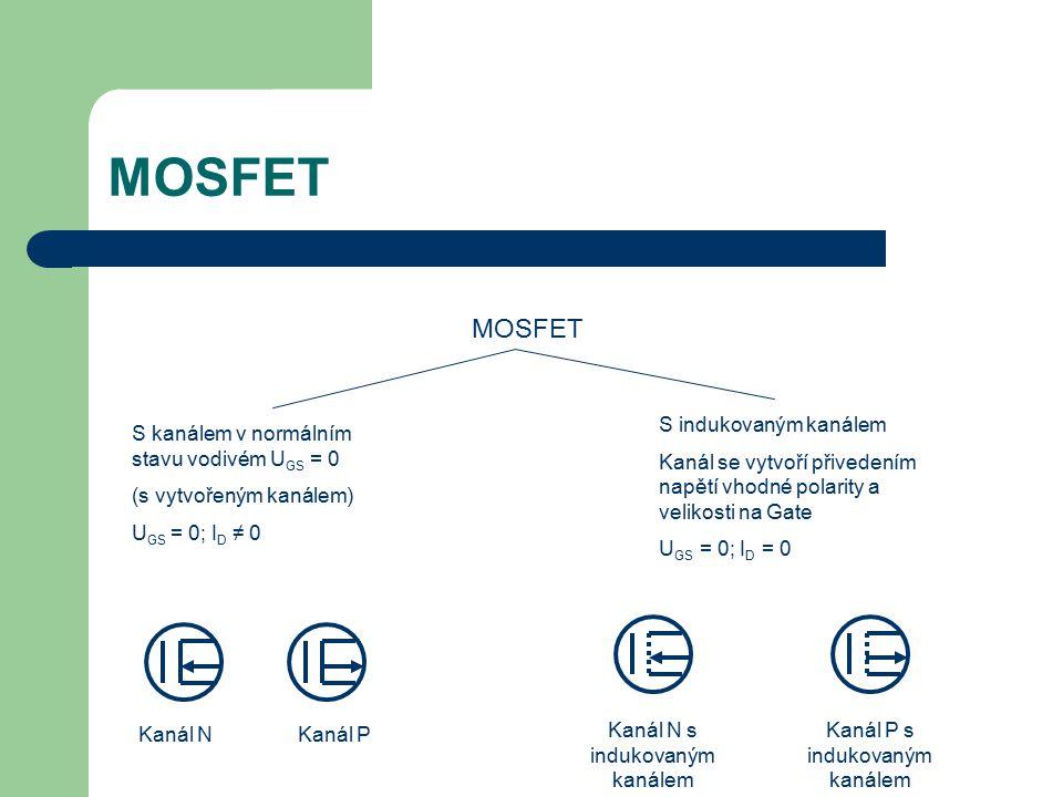 MOSFET MOSFET S indukovaným kanálem
