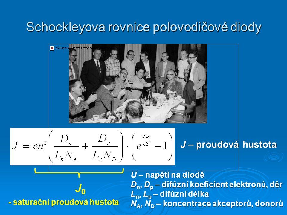 Schockleyova rovnice polovodičové diody