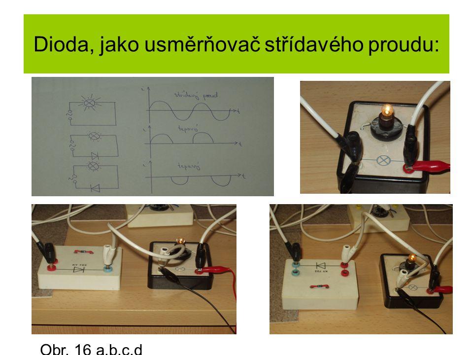 Dioda, jako usměrňovač střídavého proudu:
