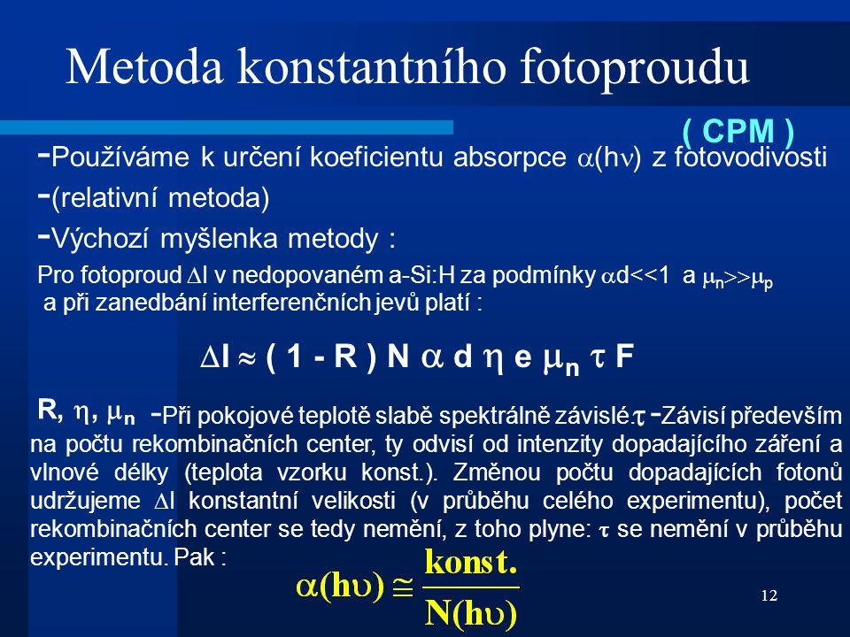Metoda konstantního fotoproudu