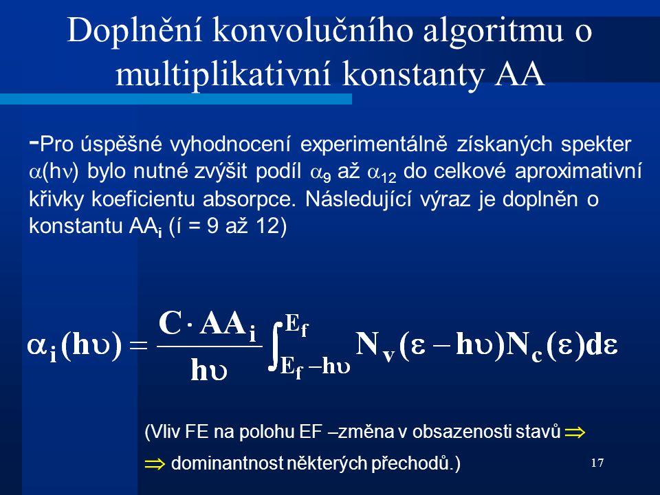 Doplnění konvolučního algoritmu o multiplikativní konstanty AA
