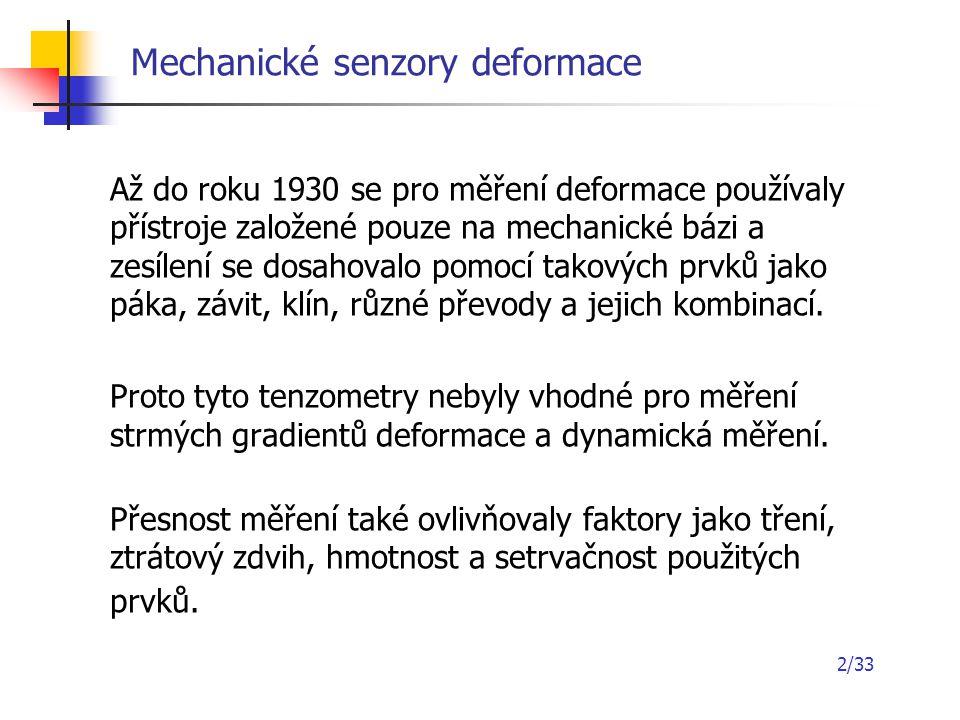 Mechanické senzory deformace