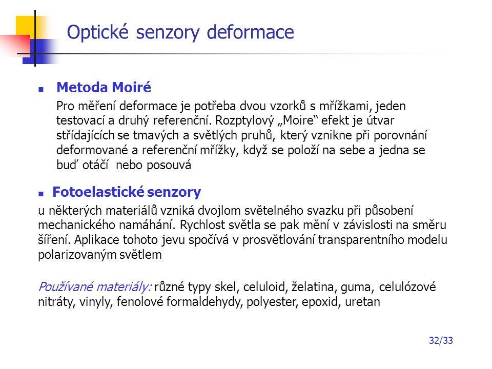 Optické senzory deformace