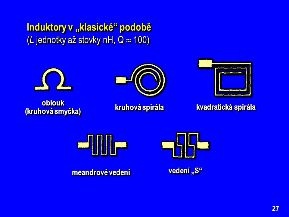 """Induktory v """"klasické podobě"""
