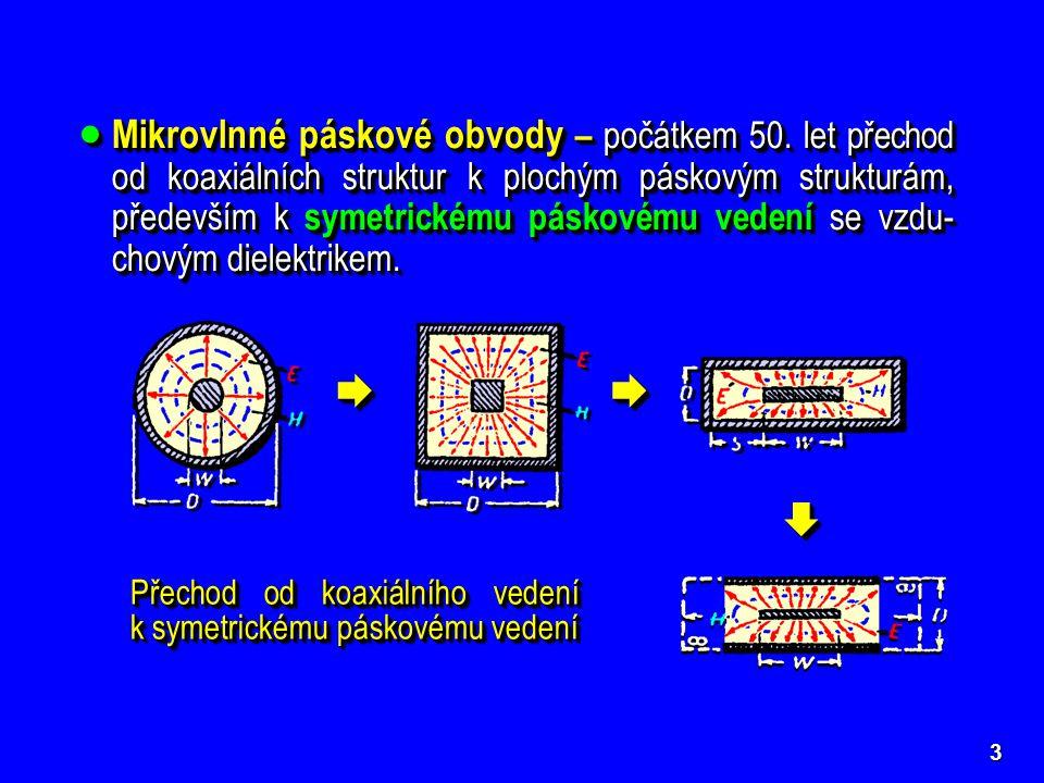 Mikrovlnné páskové obvody – počátkem 50