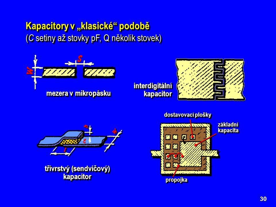 třívrstvý (sendvičový) kapacitor