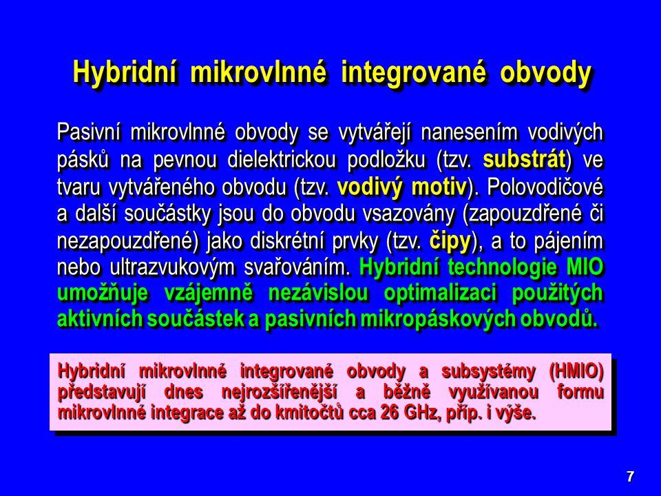 Hybridní mikrovlnné integrované obvody