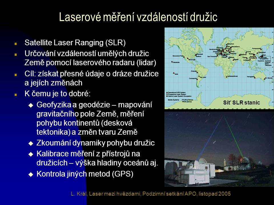 Laserové měření vzdáleností družic