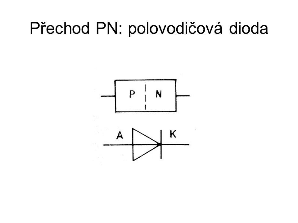 Přechod PN: polovodičová dioda