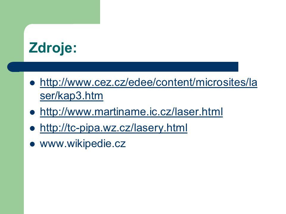 Zdroje: http://www.cez.cz/edee/content/microsites/laser/kap3.htm
