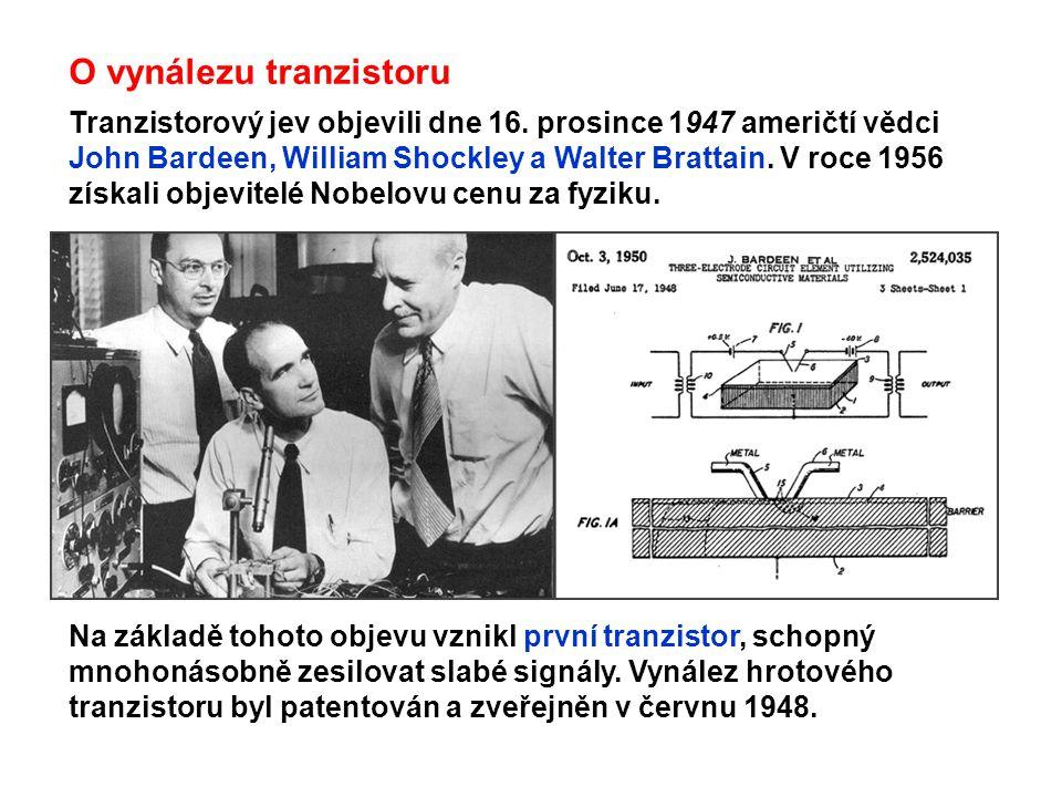 O vynálezu tranzistoru