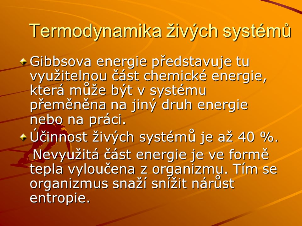 Termodynamika živých systémů