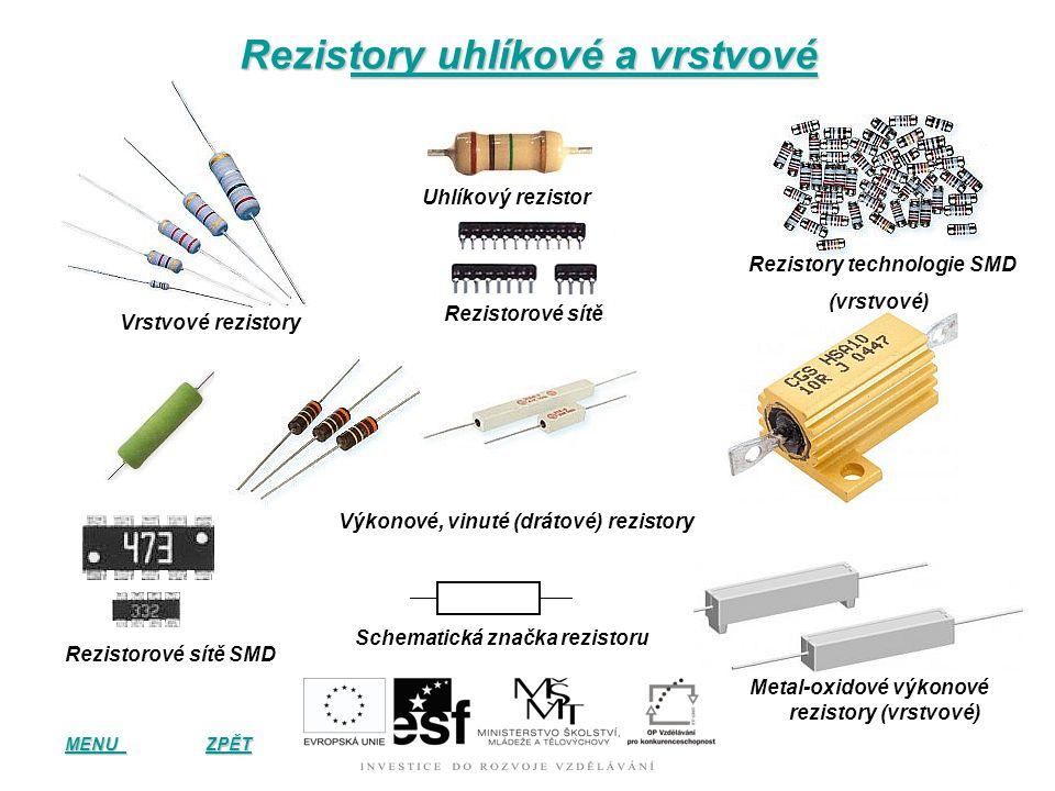 Rezistory uhlíkové a vrstvové