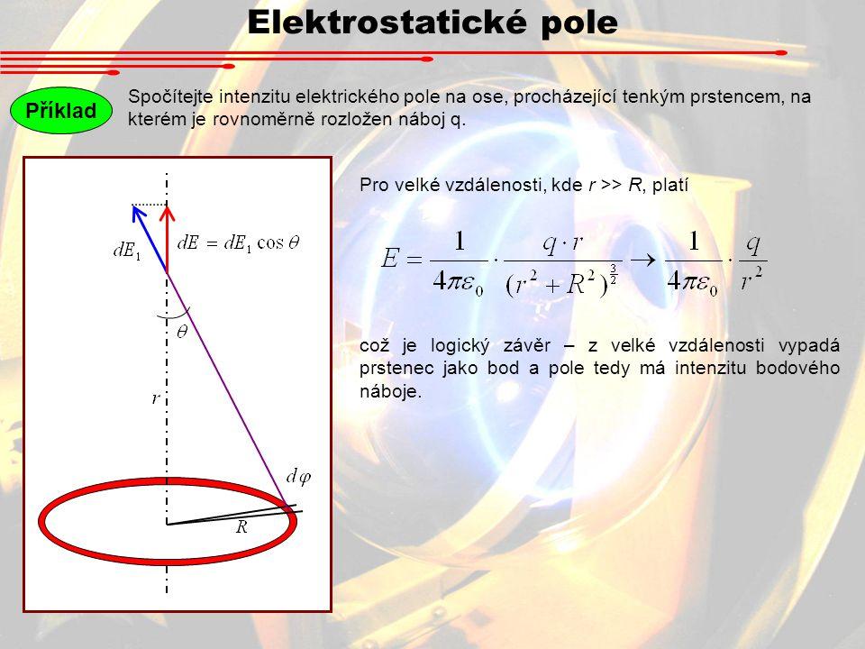 Elektrostatické pole Příklad