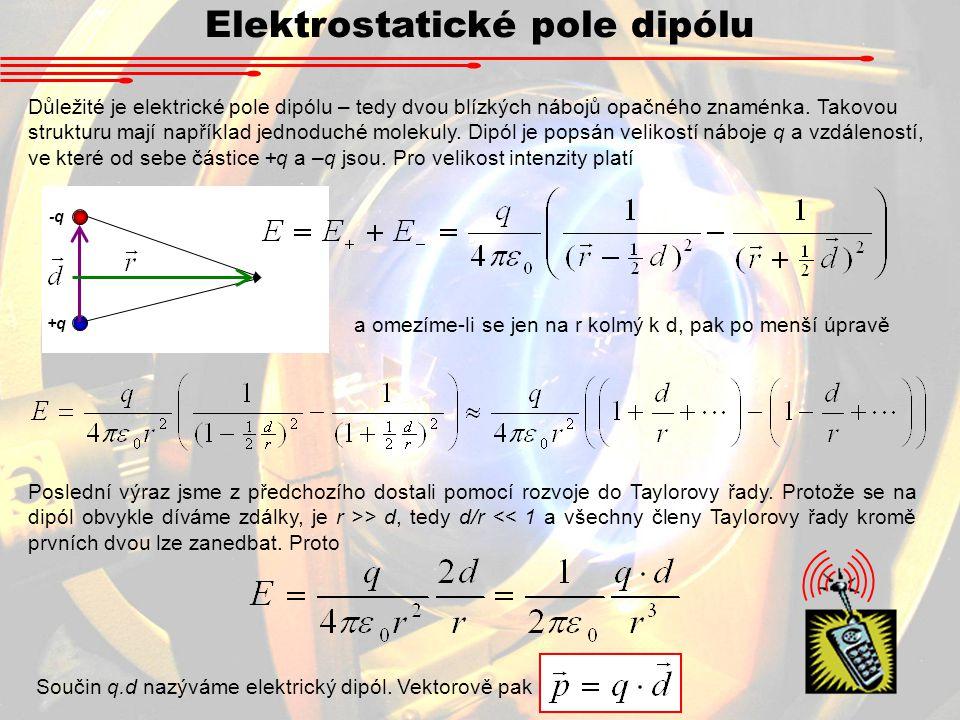Elektrostatické pole dipólu