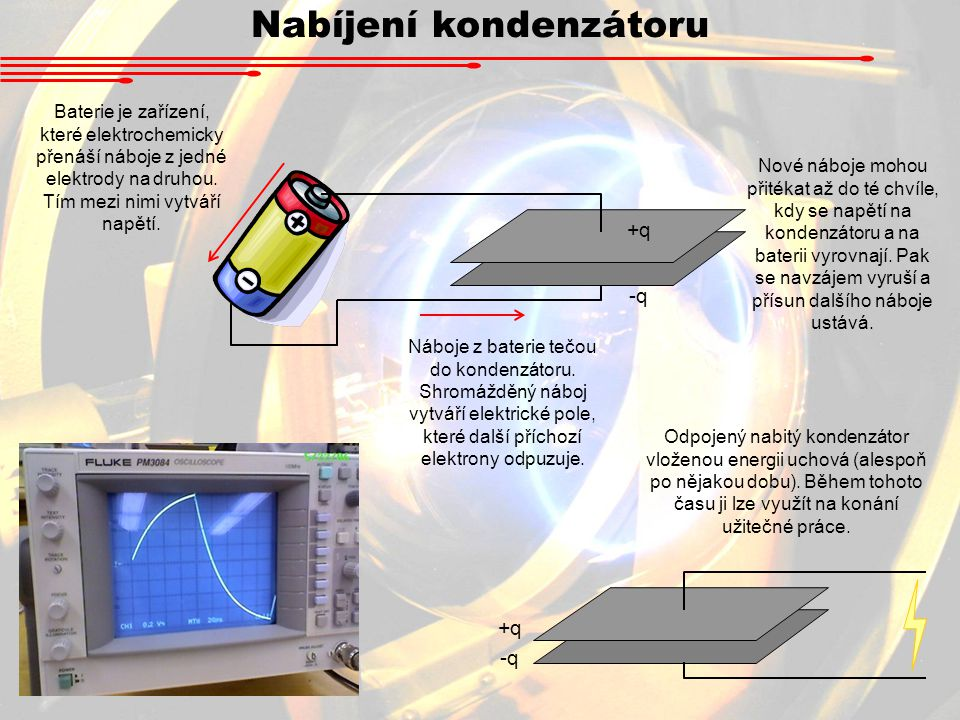 Nabíjení kondenzátoru