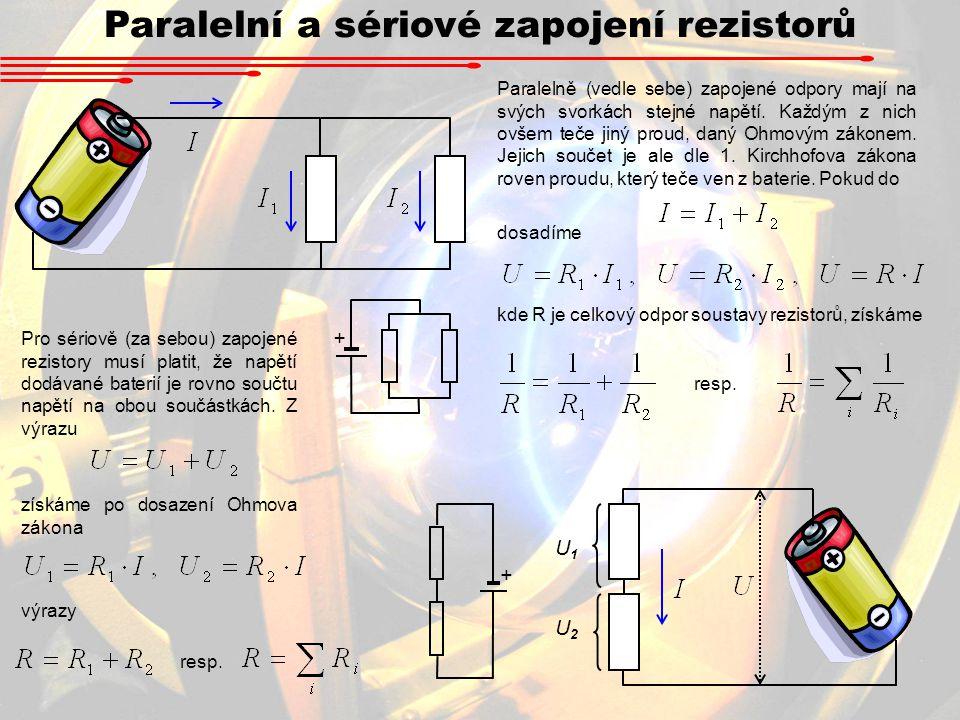 Paralelní a sériové zapojení rezistorů