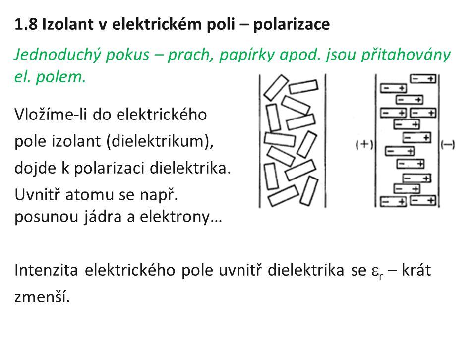 1.8 Izolant v elektrickém poli – polarizace