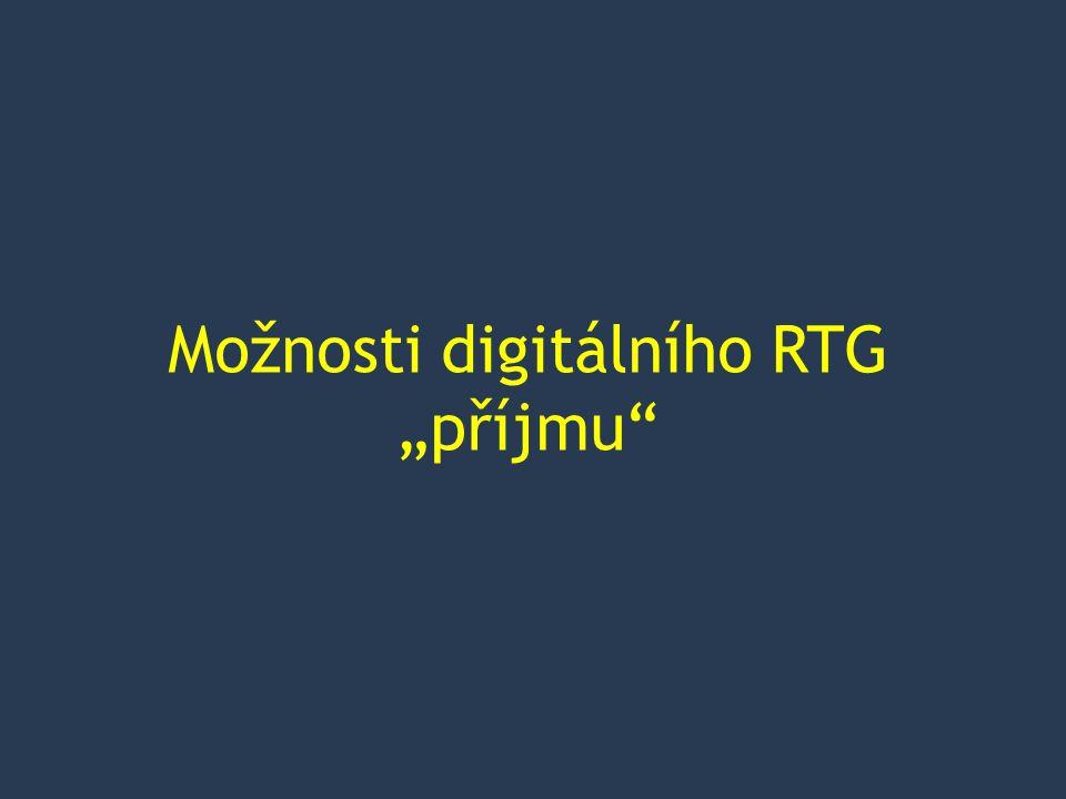 """Možnosti digitálního RTG """"příjmu"""