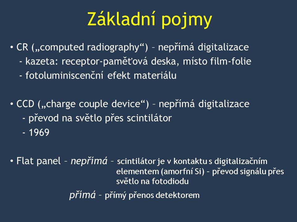 """Základní pojmy CR (""""computed radiography ) – nepřímá digitalizace"""