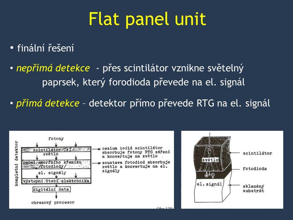 Flat panel unit finální řešení