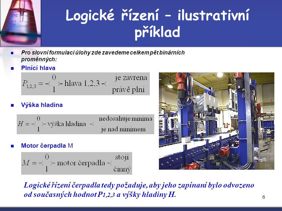 Logické řízení – ilustrativní příklad