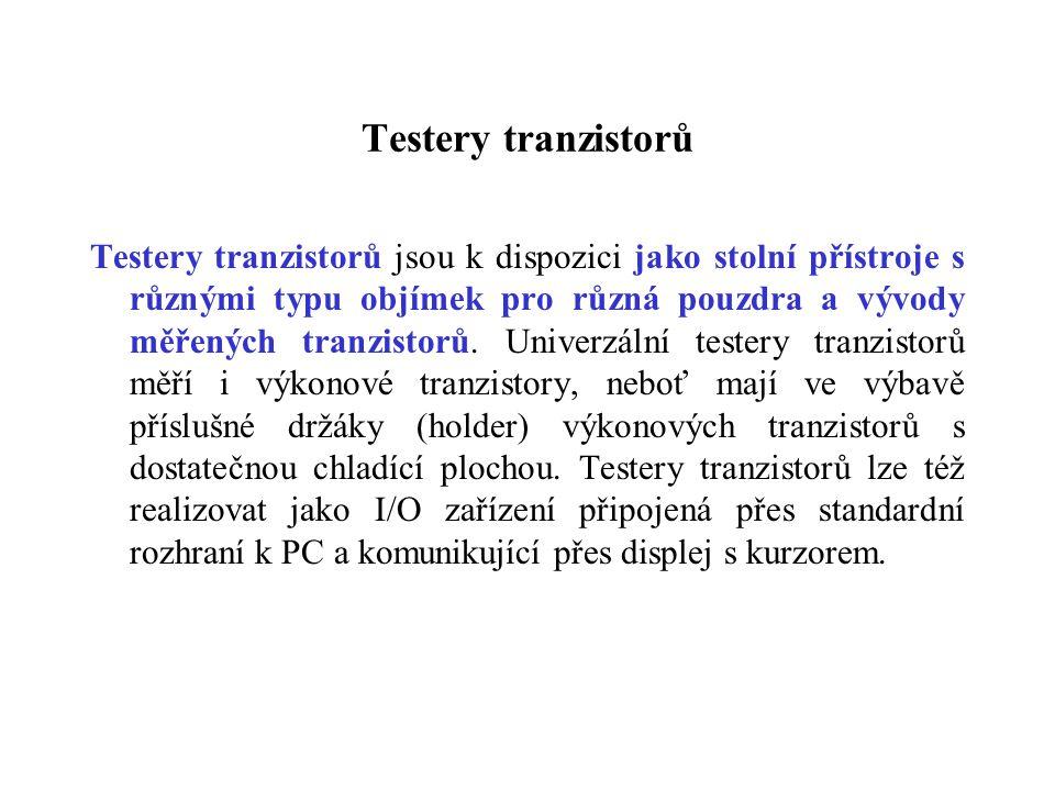 Testery tranzistorů