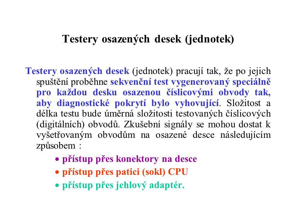 Testery osazených desek (jednotek)