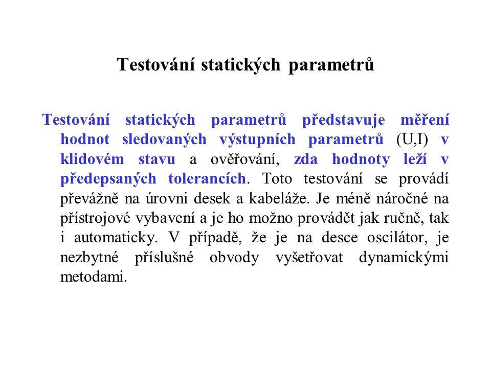 Testování statických parametrů