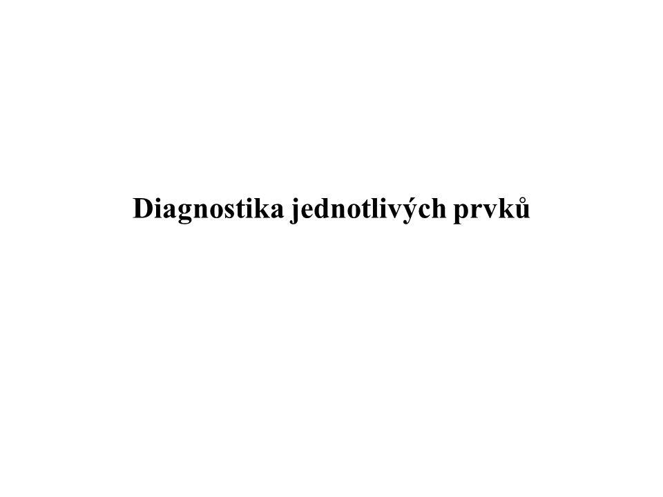 Diagnostika jednotlivých prvků