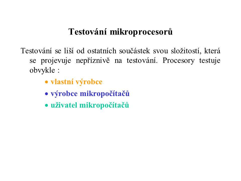 Testování mikroprocesorů