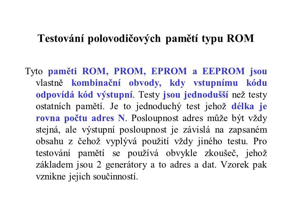 Testování polovodičových pamětí typu ROM
