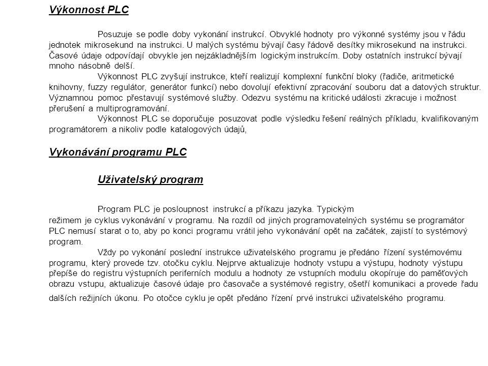 Výkonnost PLC