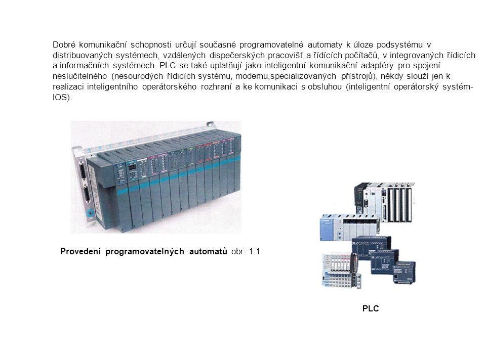 Dobré komunikační schopnosti určují současné programovatelné automaty k úloze podsystému v distribuovaných systémech, vzdálených dispečerských pracovišť a řídících počítačů, v integrovaných řídicích a informačních systémech. PLC se také uplatňují jako inteligentní komunikační adaptéry pro spojení neslučitelného (nesourodých řídicích systému, modemu,specializovaných přístrojů), někdy slouží jen k realizaci inteligentního operátorského rozhraní a ke komunikaci s obsluhou (inteligentní operátorský systém-lOS).