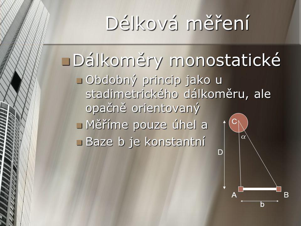Délková měření Dálkoměry monostatické